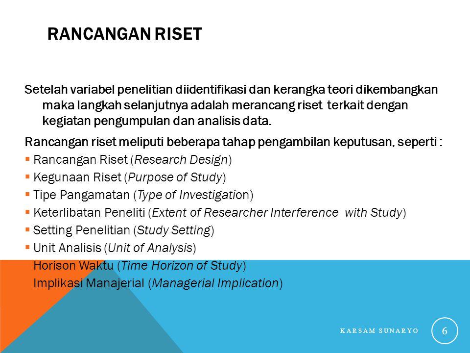 Rancangan Riset