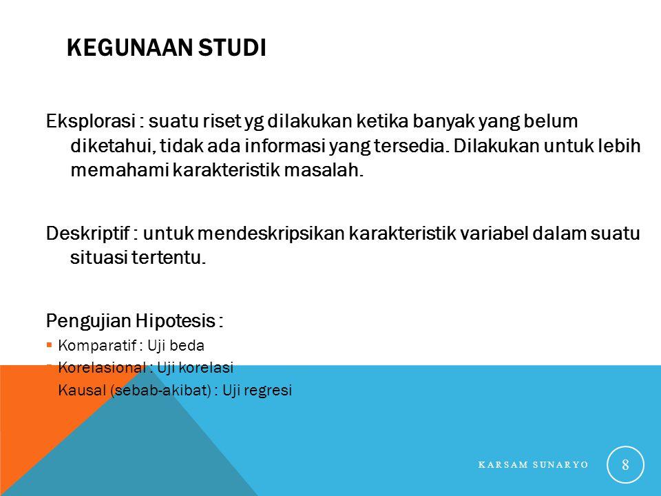 Kegunaan Studi