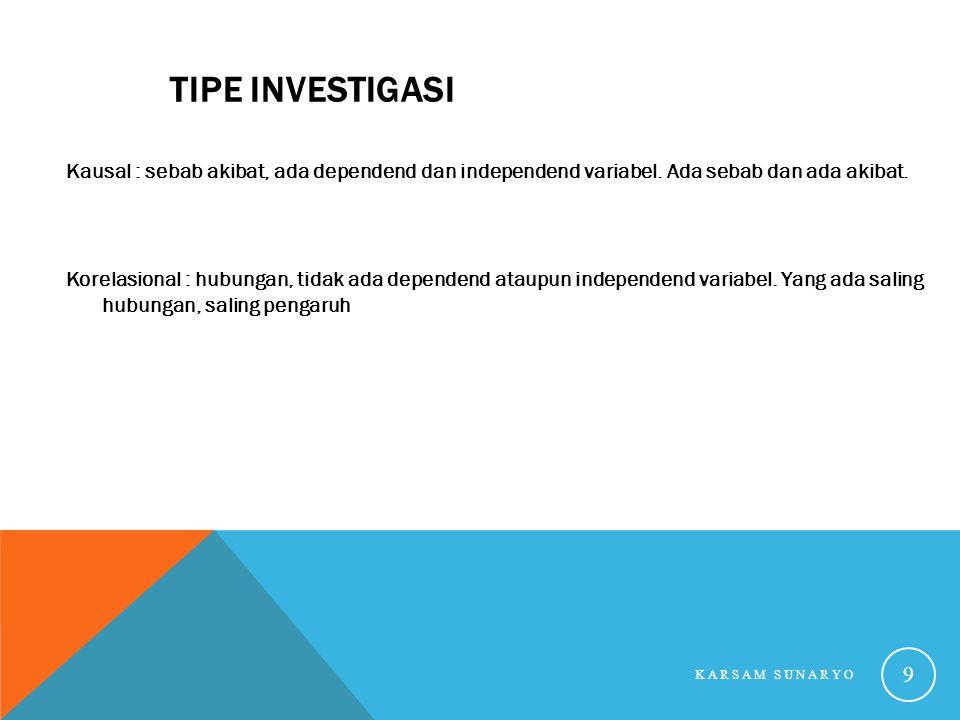 Tipe Investigasi