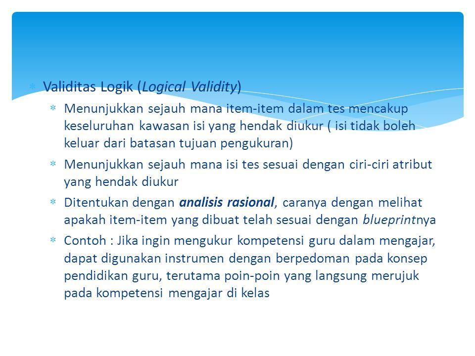 Validitas Logik (Logical Validity)