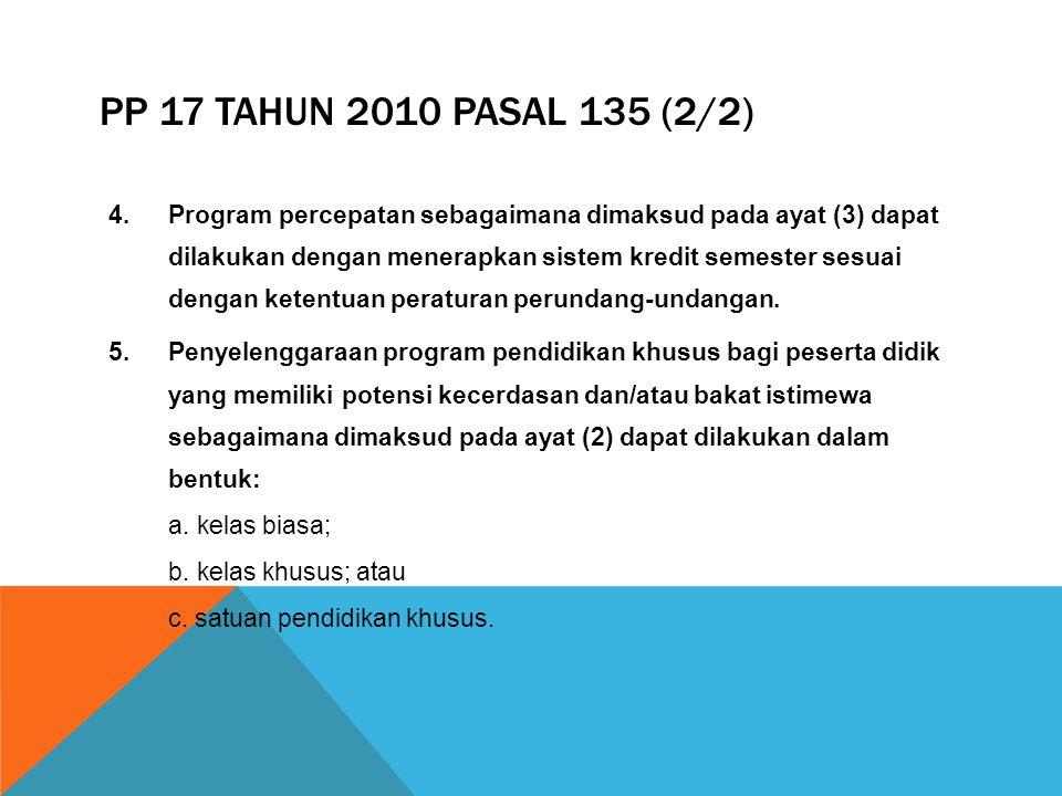 PP 17 Tahun 2010 Pasal 135 (2/2)
