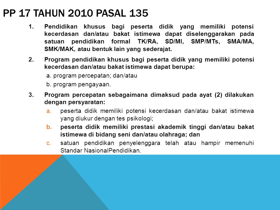 PP 17 Tahun 2010 Pasal 135