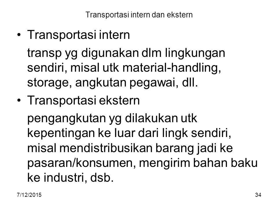 Transportasi intern dan ekstern