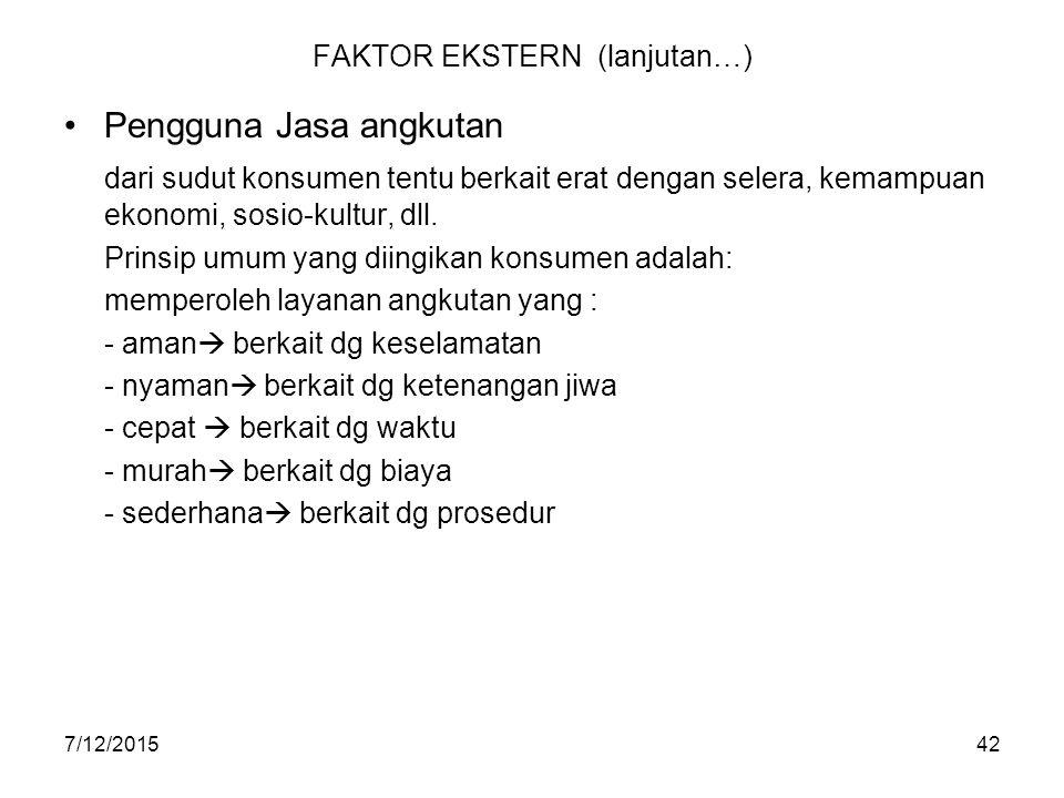 FAKTOR EKSTERN (lanjutan…)