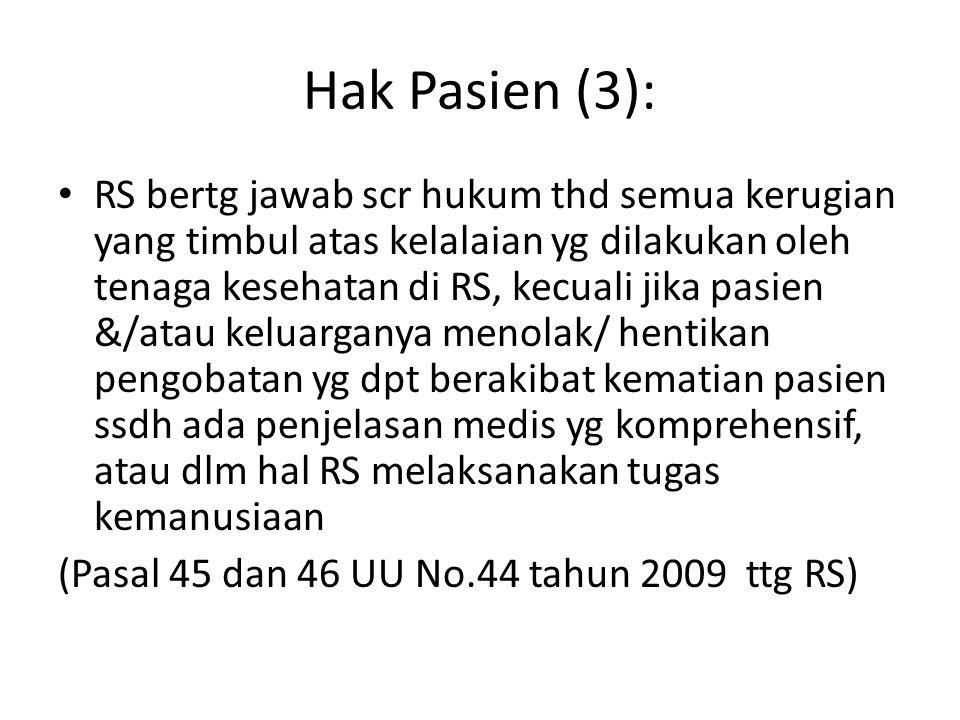Hak Pasien (3):