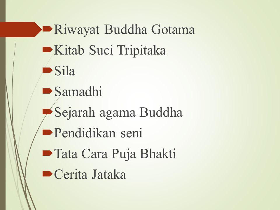Riwayat Buddha Gotama Kitab Suci Tripitaka. Sila. Samadhi. Sejarah agama Buddha. Pendidikan seni.