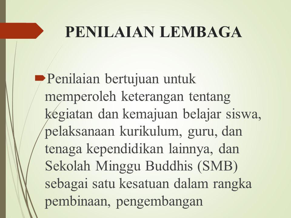 PENILAIAN LEMBAGA