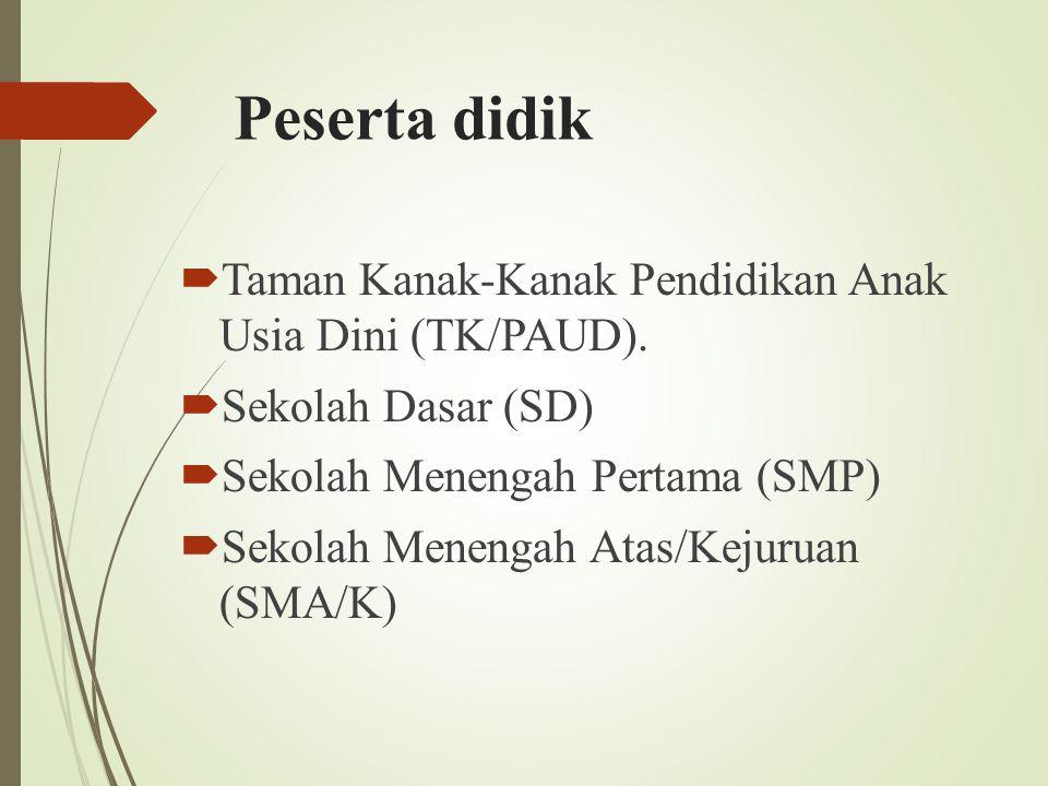 Peserta didik Taman Kanak-Kanak Pendidikan Anak Usia Dini (TK/PAUD).