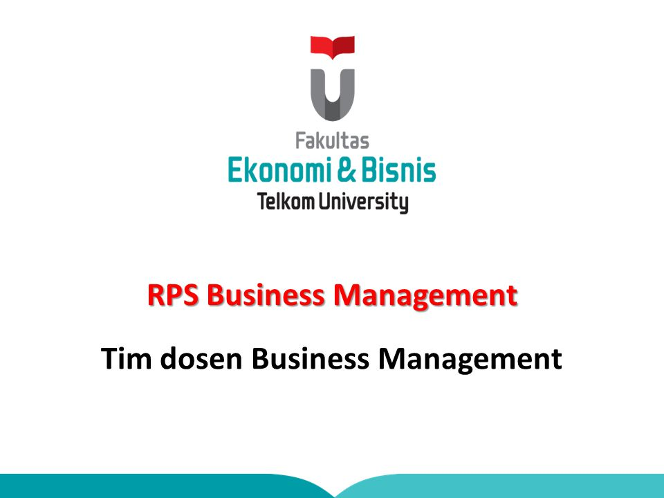 RPS Business Management Tim dosen Business Management