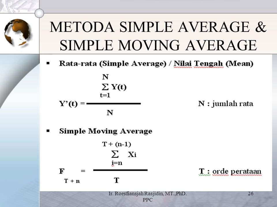 METODA SIMPLE AVERAGE & SIMPLE MOVING AVERAGE