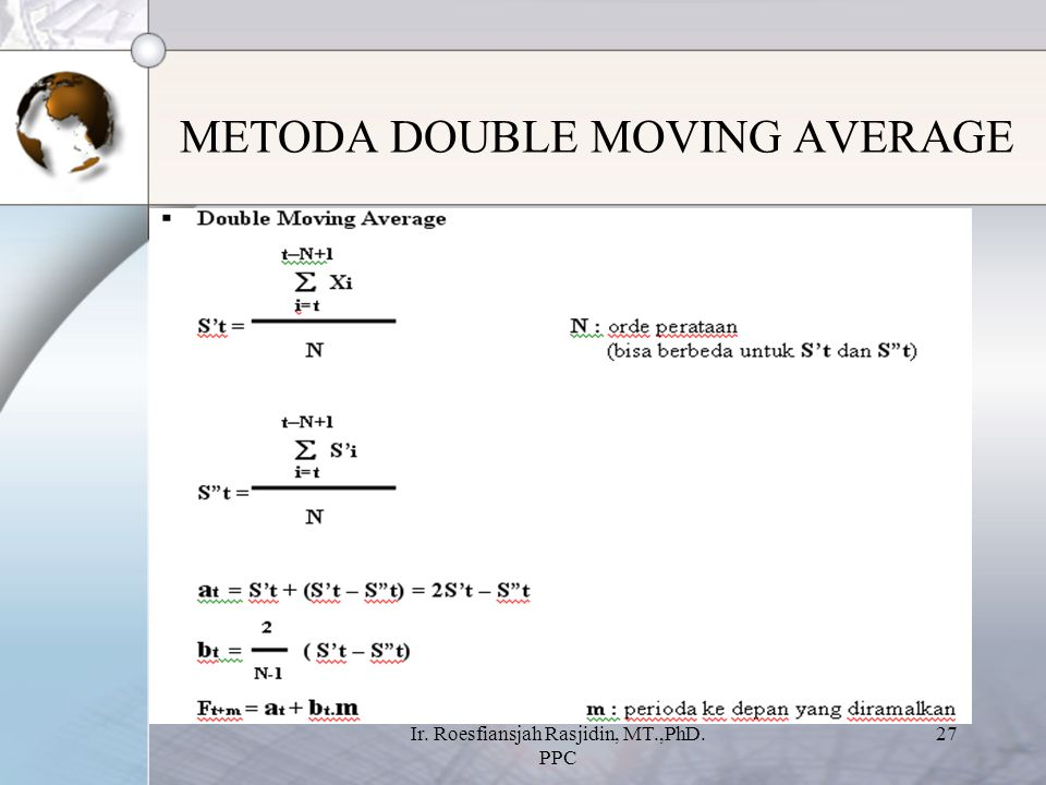 METODA DOUBLE MOVING AVERAGE
