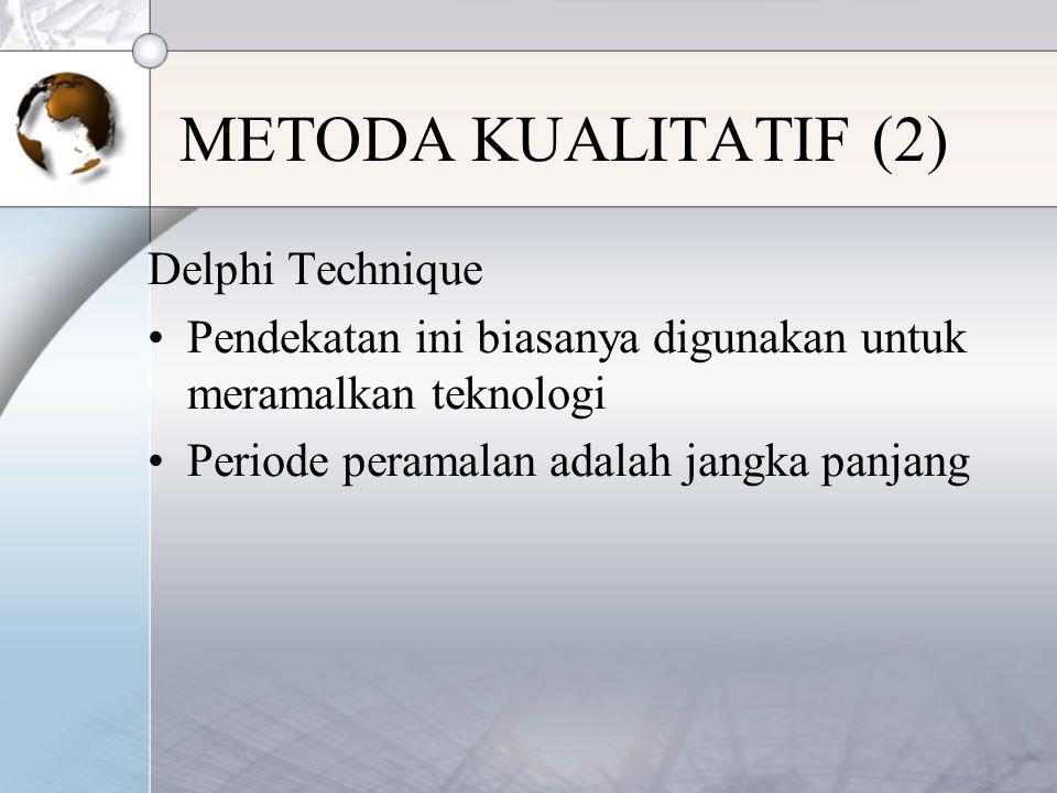 METODA KUALITATIF (2) Delphi Technique