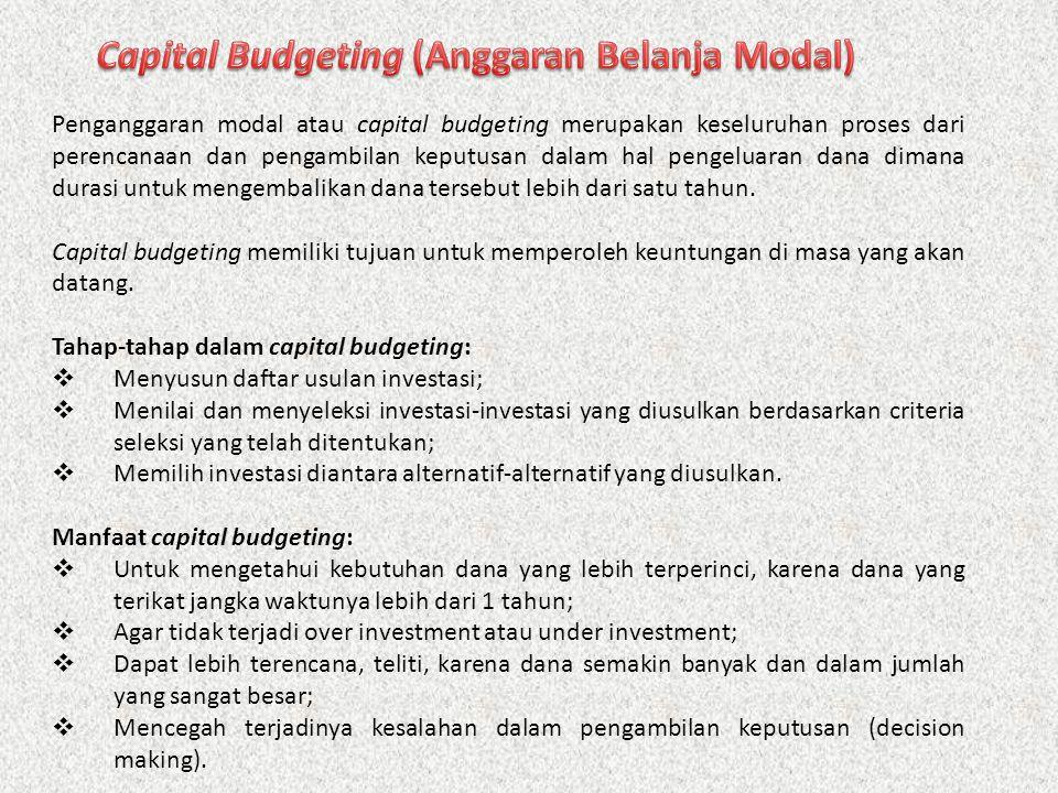 Capital Budgeting (Anggaran Belanja Modal)