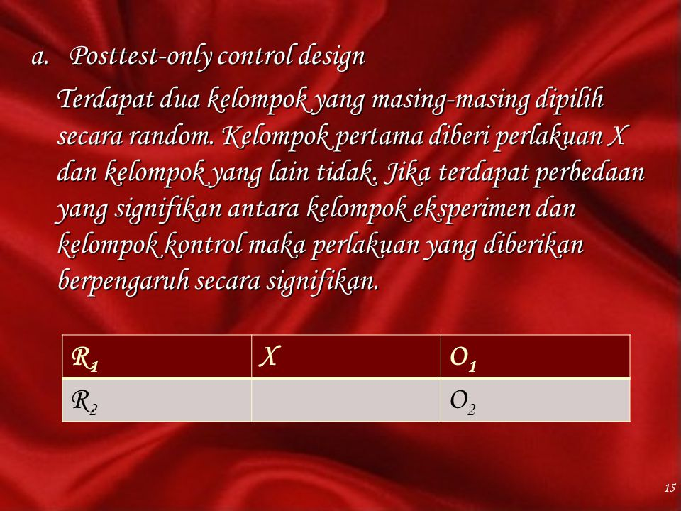 Posttest-only control design