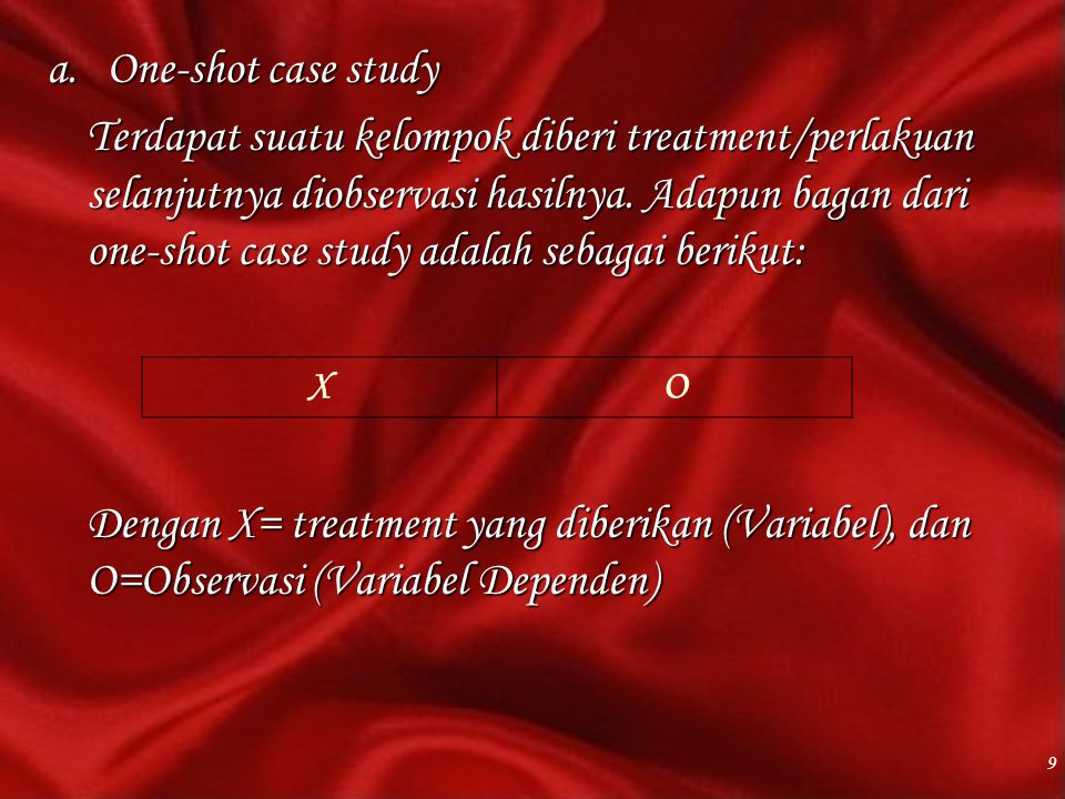 One-shot case study