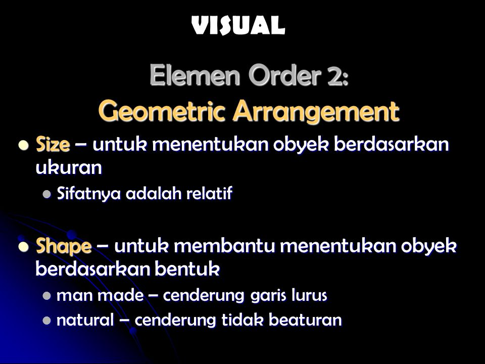 Elemen Order 2: Geometric Arrangement