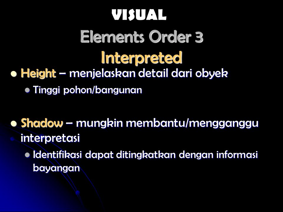 Elements Order 3 Interpreted