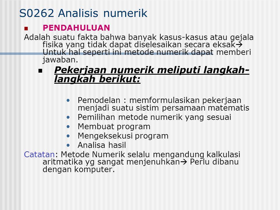 S0262 Analisis numerik PENDAHULUAN.