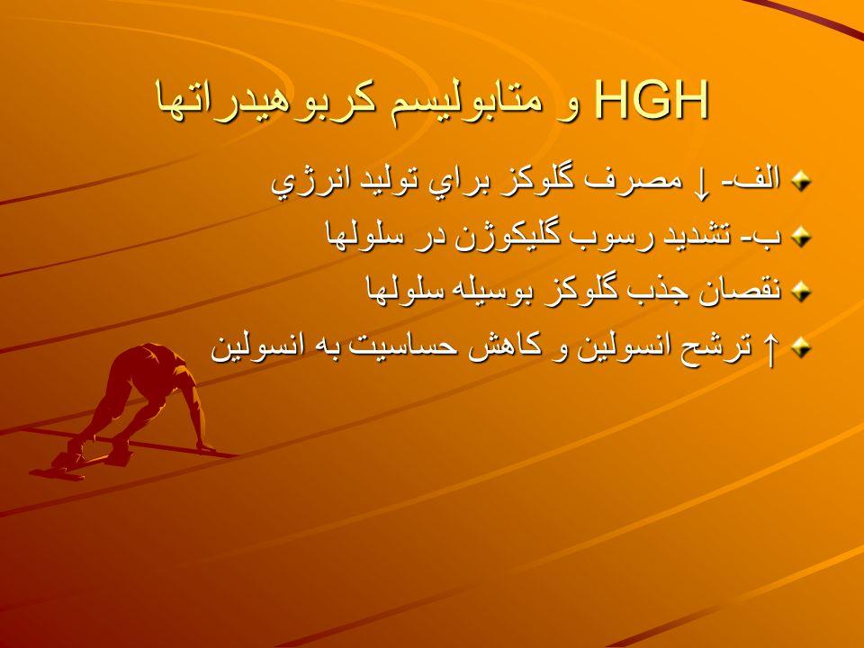 HGH و متابوليسم كربوهيدراتها