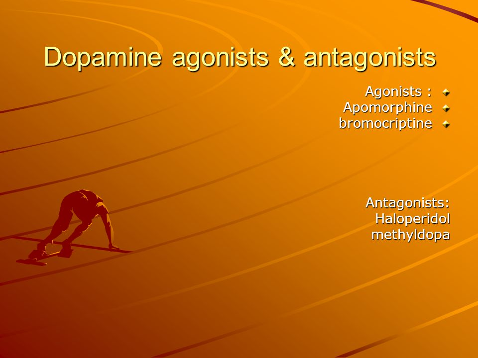 Dopamine agonists & antagonists