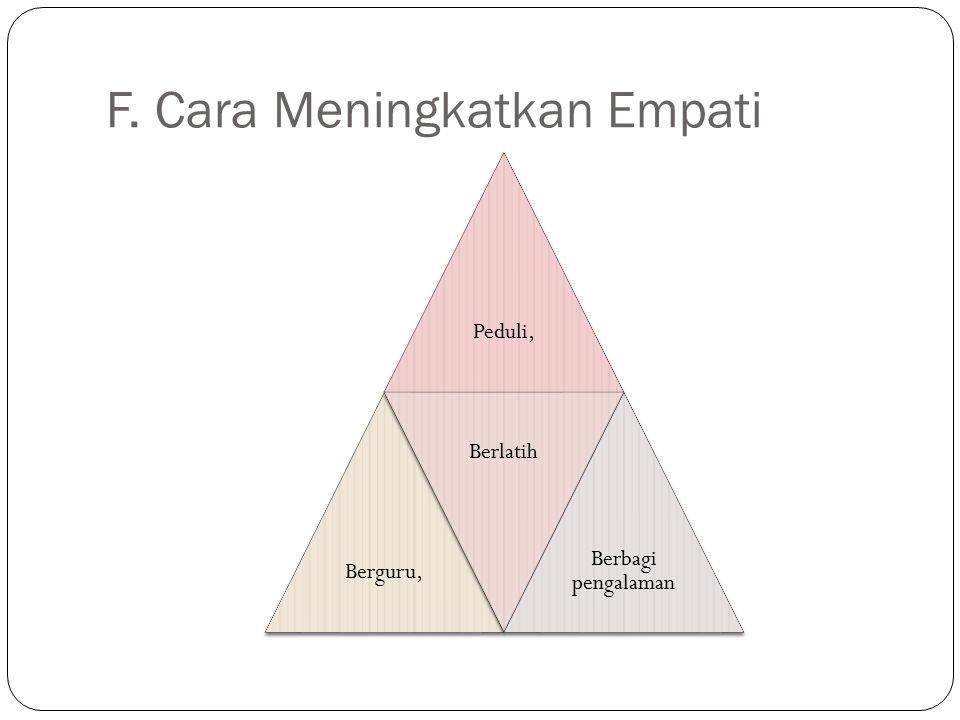 F. Cara Meningkatkan Empati