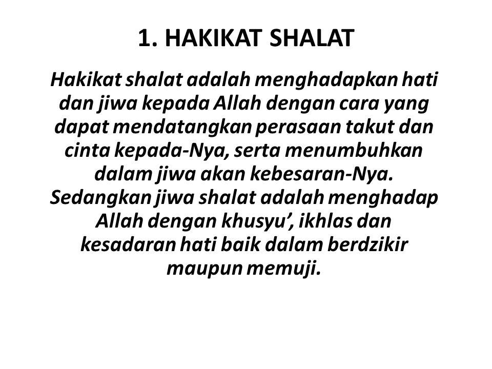 1. HAKIKAT SHALAT
