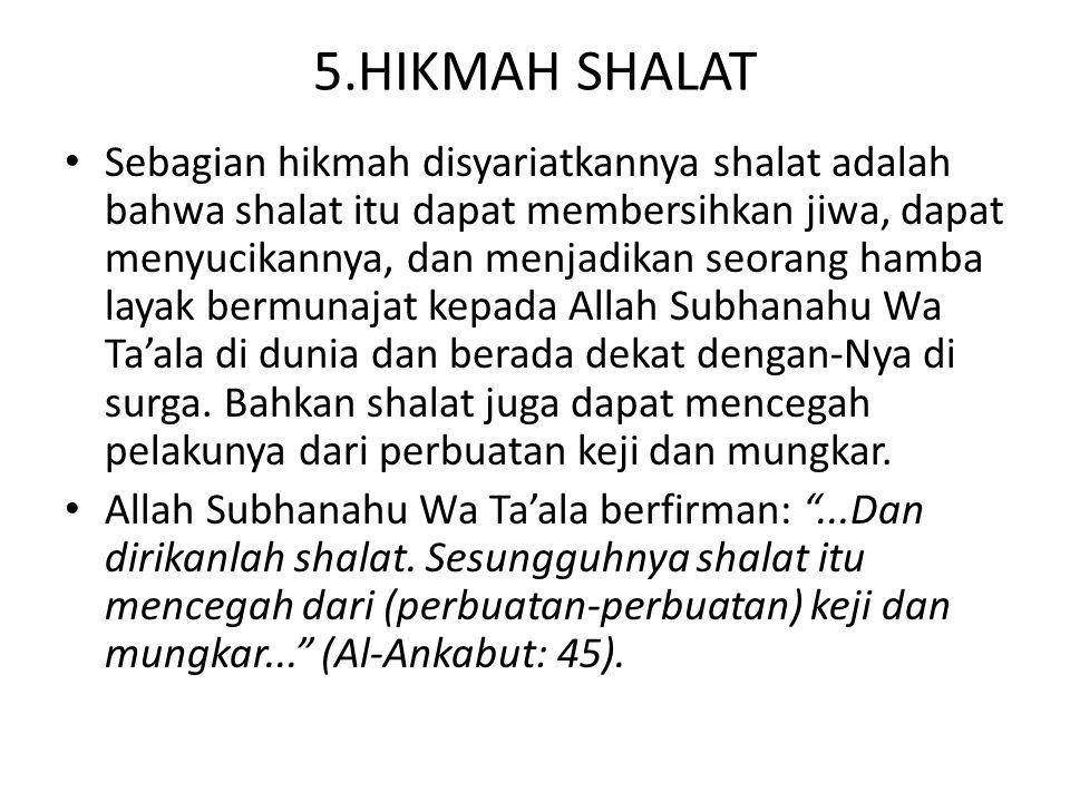 5.HIKMAH SHALAT