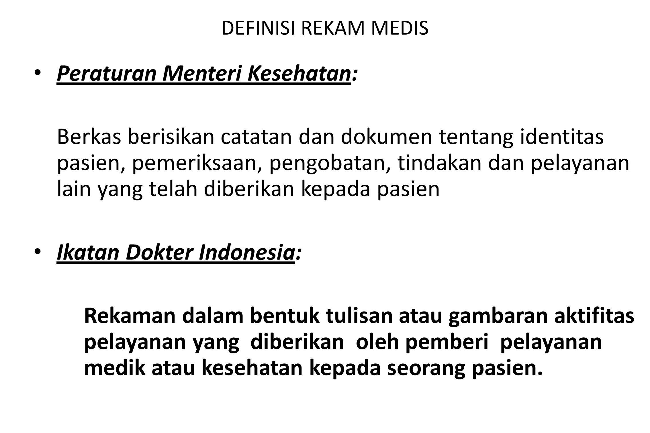 Peraturan Menteri Kesehatan: