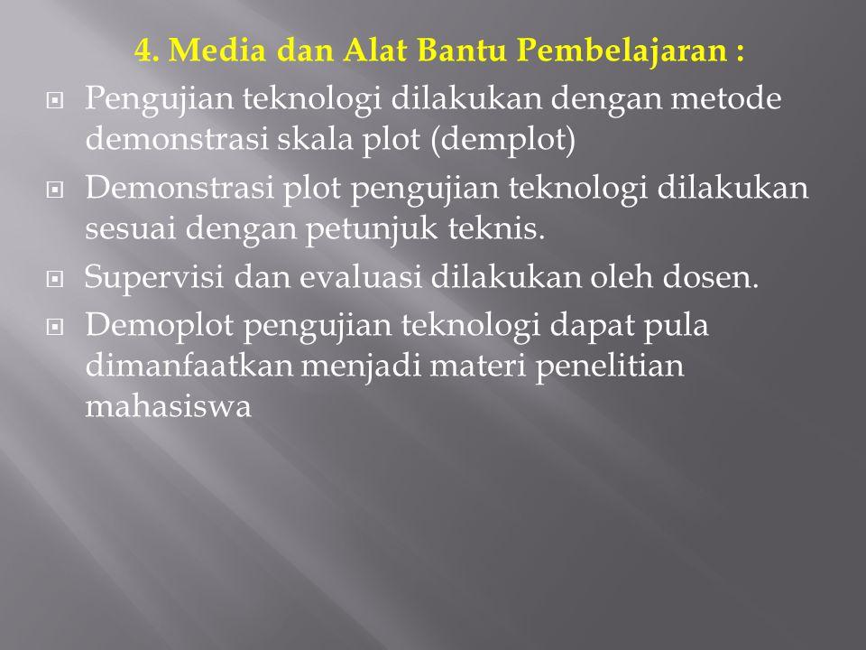 4. Media dan Alat Bantu Pembelajaran :