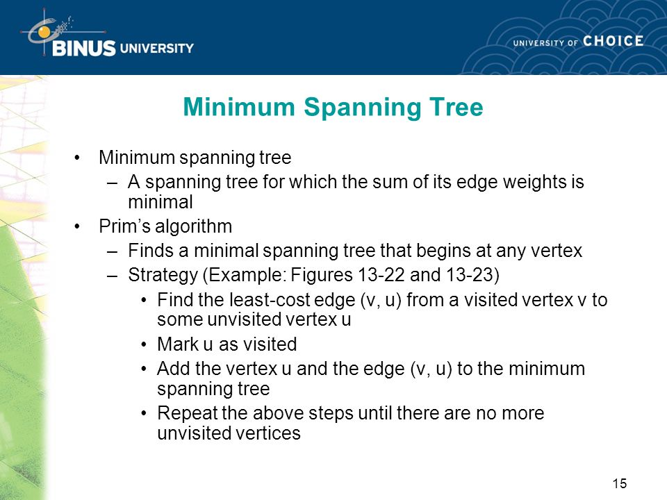 Minimum Spanning Tree Minimum spanning tree