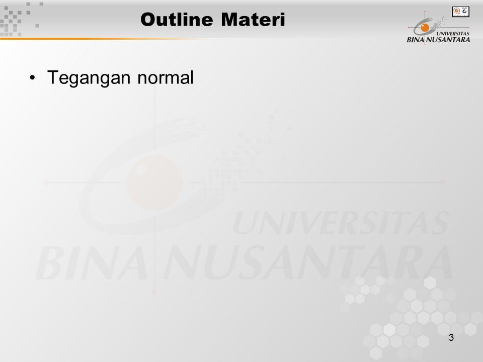 Outline Materi Tegangan normal