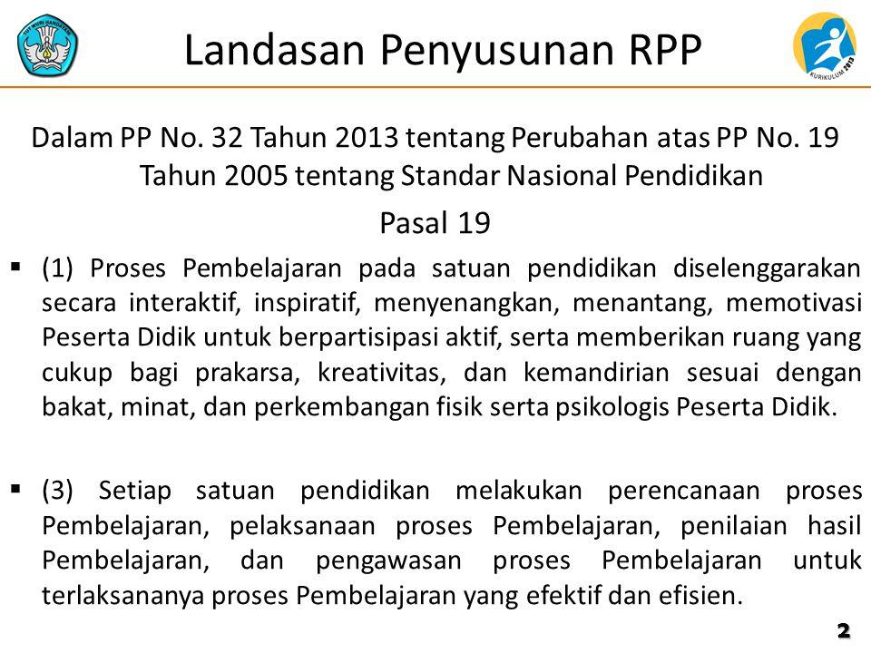 Landasan Penyusunan RPP