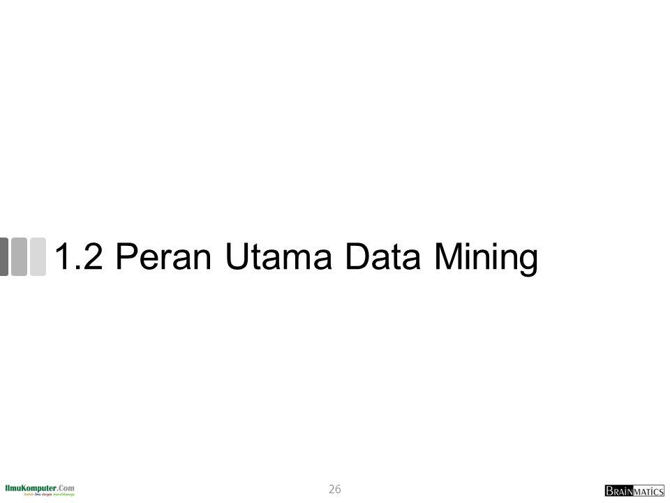 1.2 Peran Utama Data Mining
