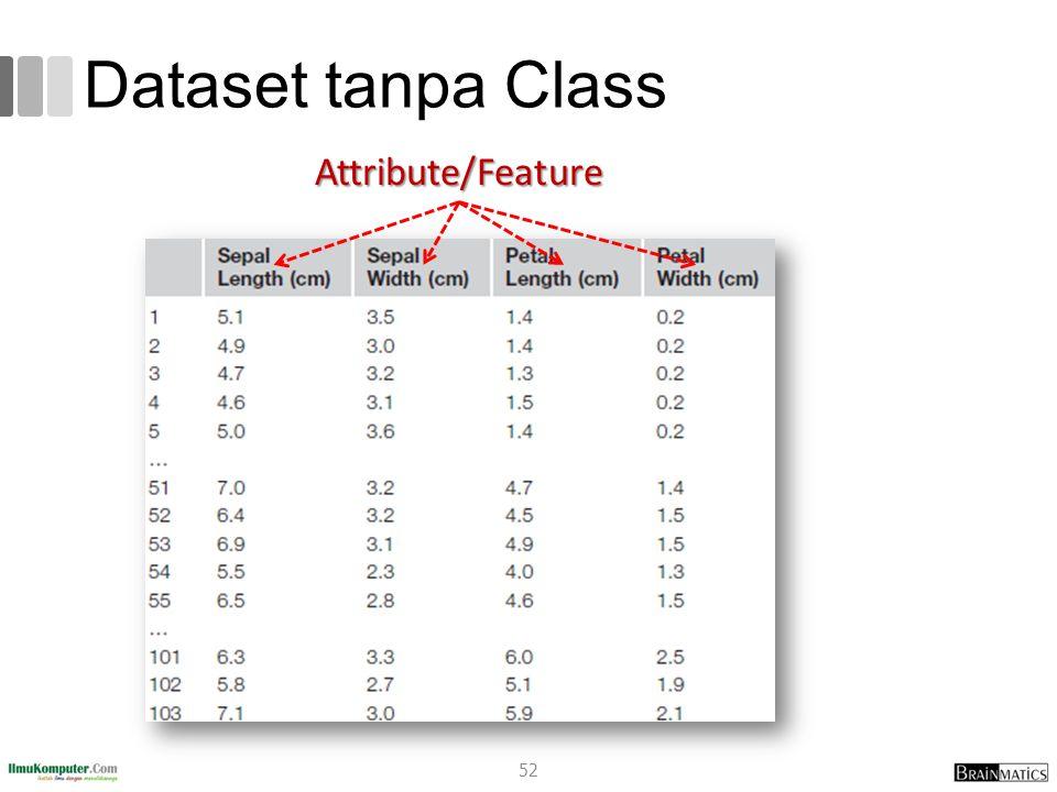 Dataset tanpa Class Attribute/Feature romi@romisatriawahono.net