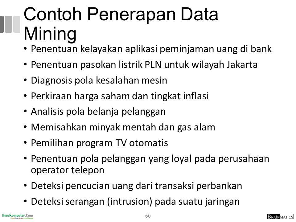 Contoh Penerapan Data Mining