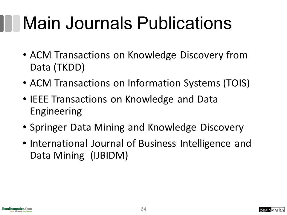 Main Journals Publications
