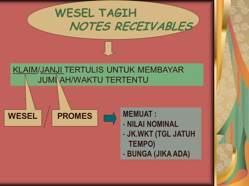 WESEL TAGIH NOTES RECEIVABLES