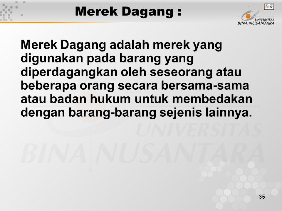 Merek Dagang :