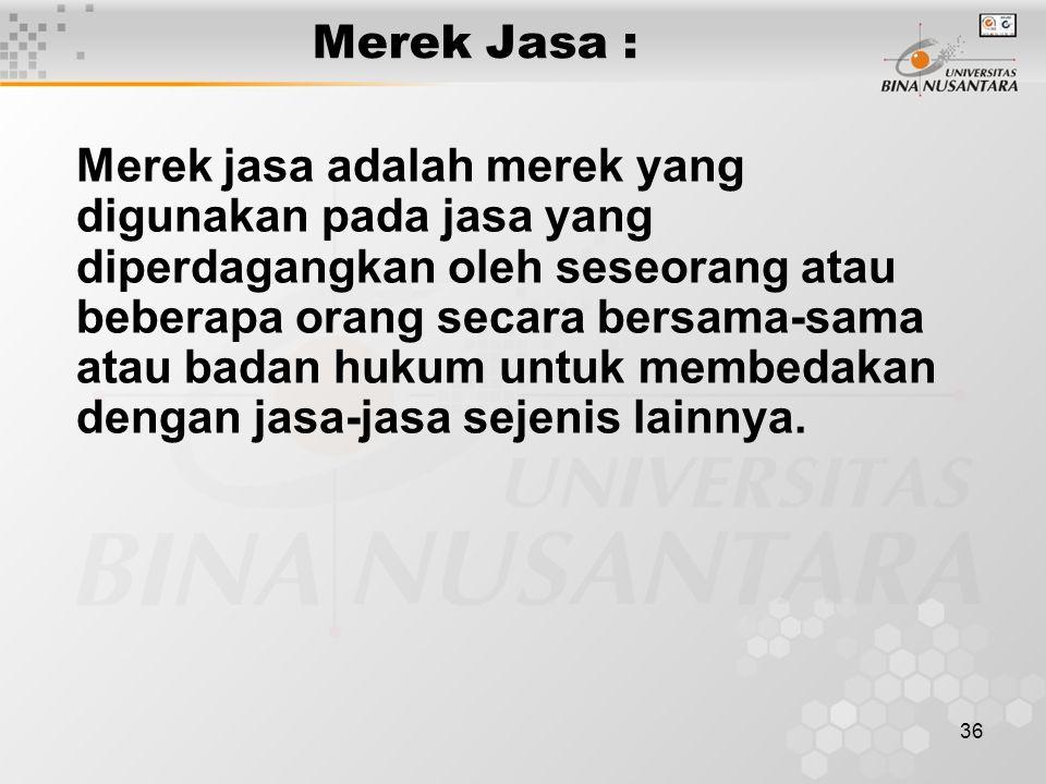 Merek Jasa :