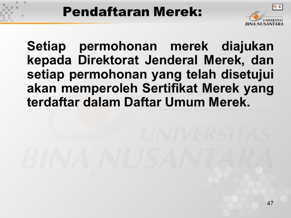 Pendaftaran Merek: