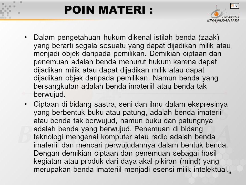 POIN MATERI :
