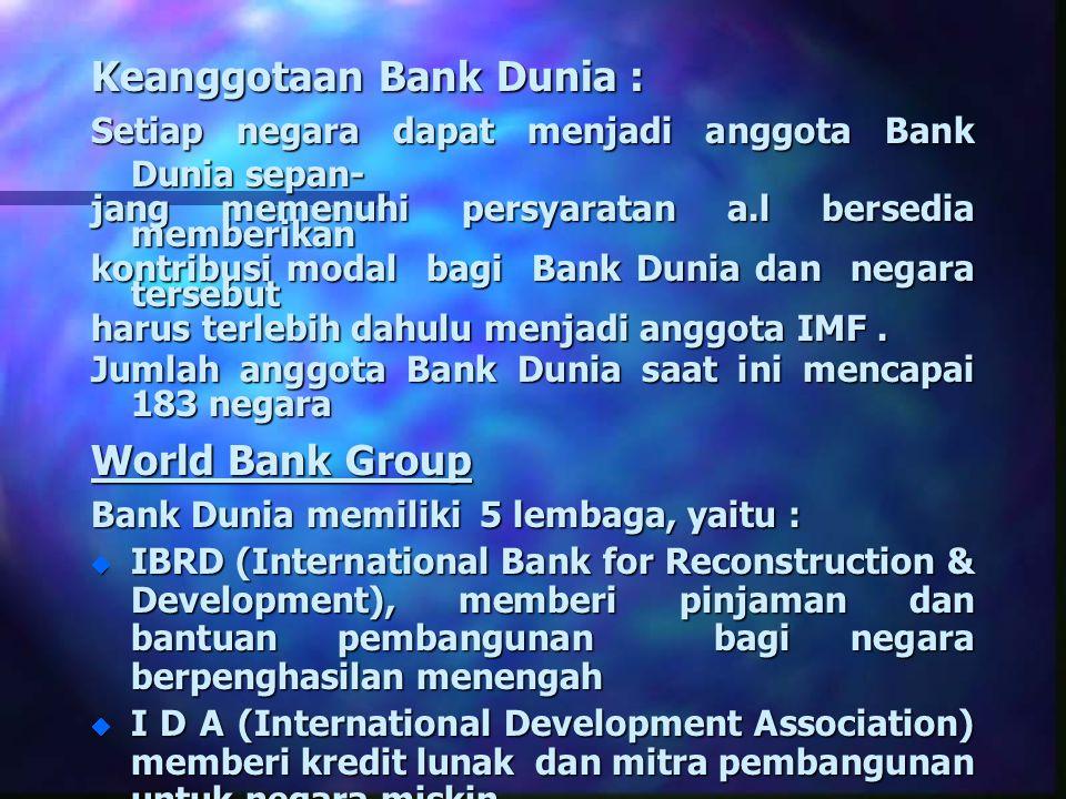 Keanggotaan Bank Dunia :