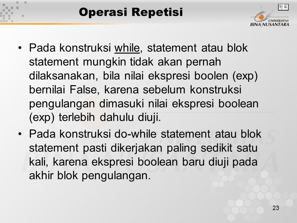 Operasi Repetisi