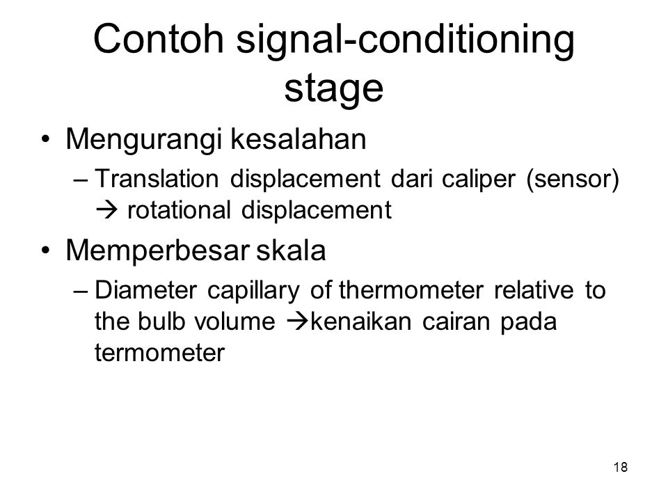 Contoh signal-conditioning stage