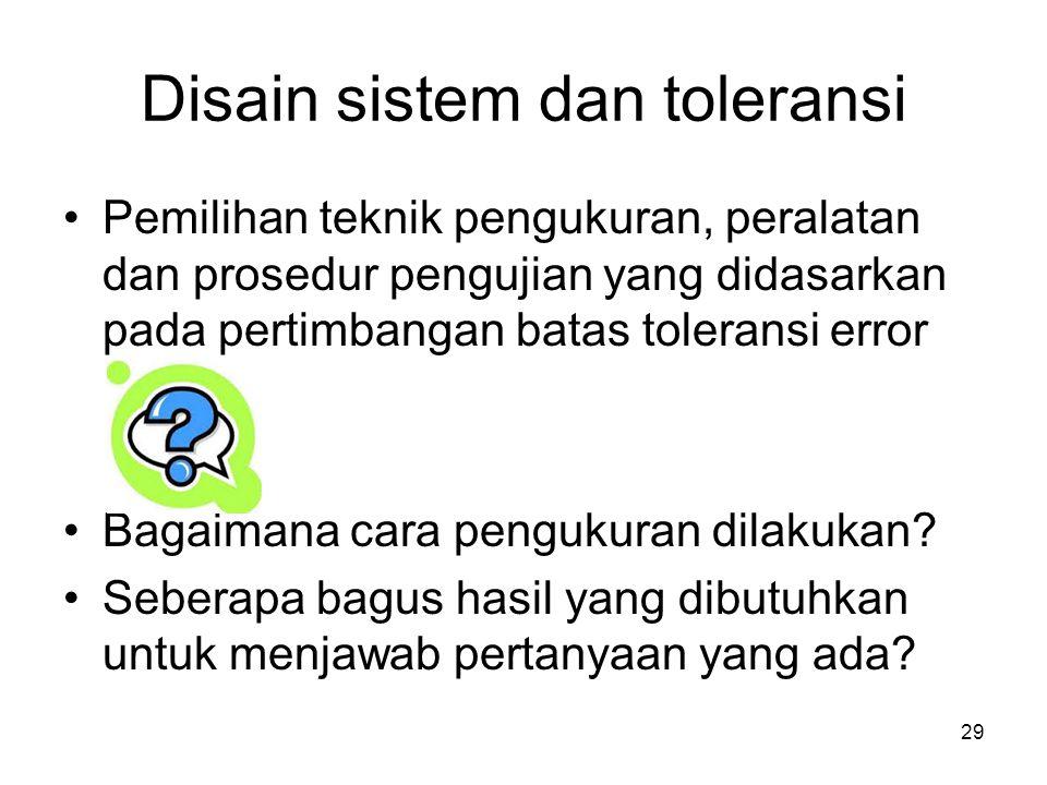 Disain sistem dan toleransi