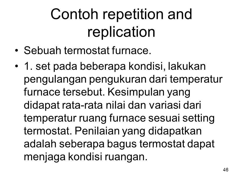 Contoh repetition and replication