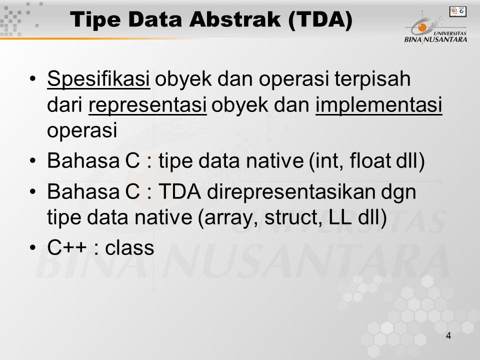 Tipe Data Abstrak (TDA)