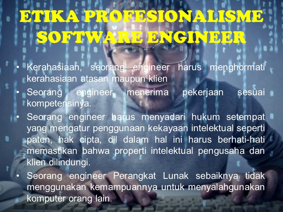 ETIKA PROFESIONALISME SOFTWARE ENGINEER