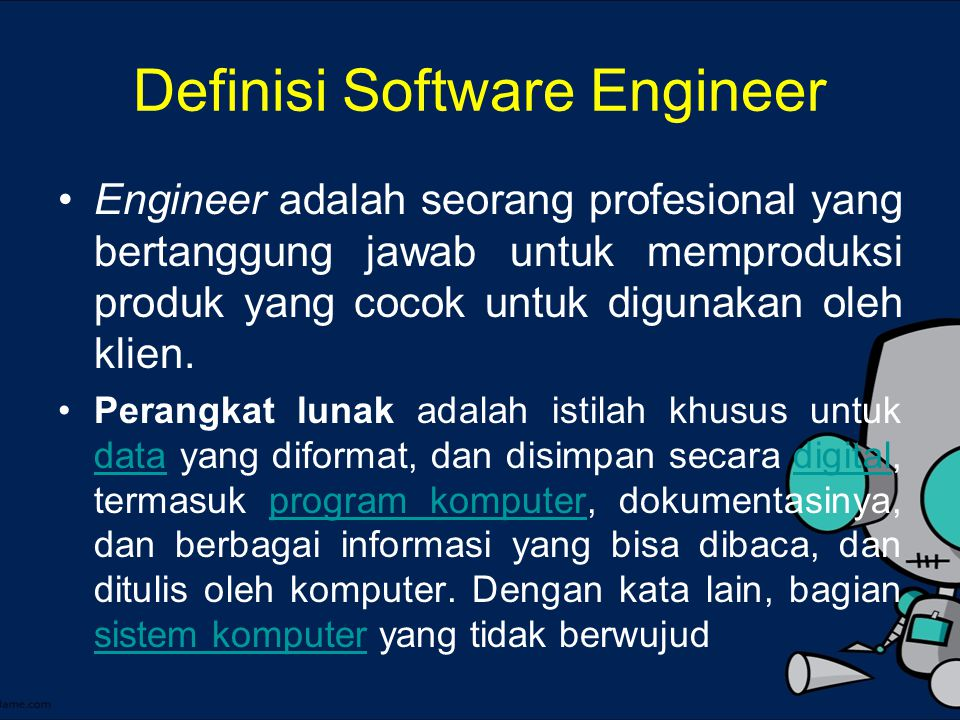 Definisi Software Engineer