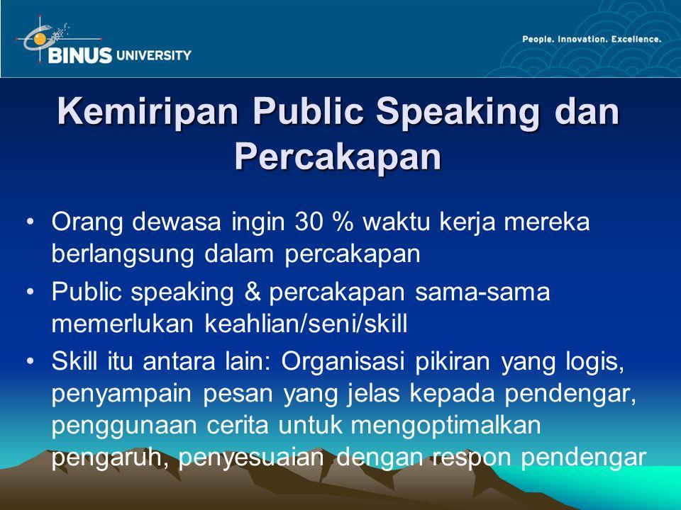 Kemiripan Public Speaking dan Percakapan